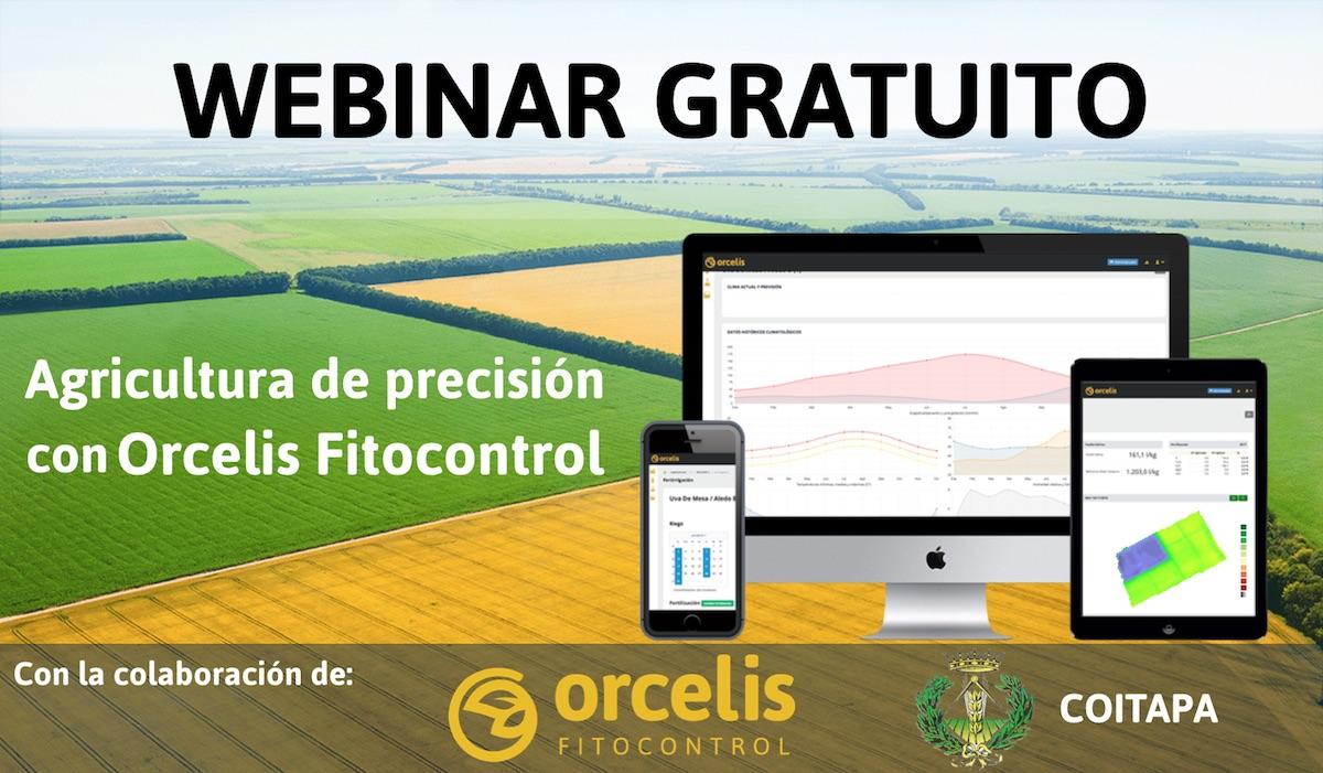 """Webinar COITAPA """"Agricultura de precisión con Orcelis Fitocontrol"""""""