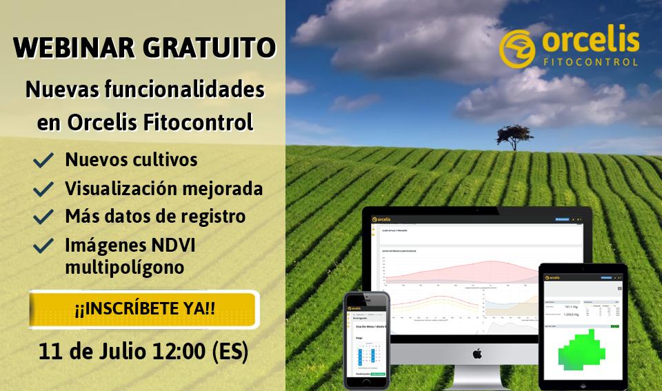 """Webinar """"Nuevas funcionalidades en Orcelis Fitocontrol"""""""
