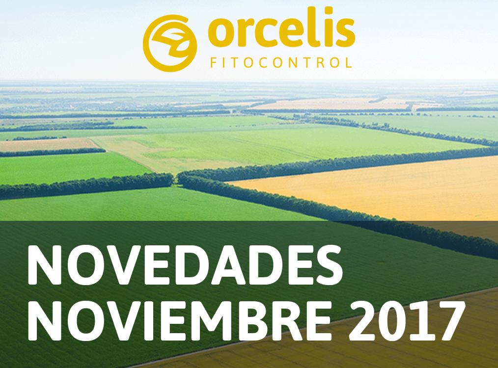 Actualización de Orcelis Fitocontrol, novedades de noviembre de 2017